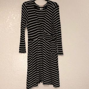 Striped Long Sleeved Dress